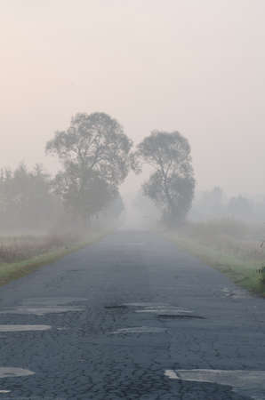 bad condition: bad condition  road bad weather Stock Photo