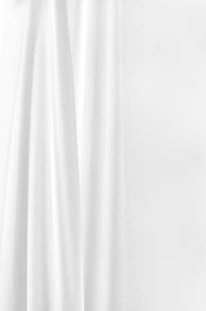 white curtain on white wall background