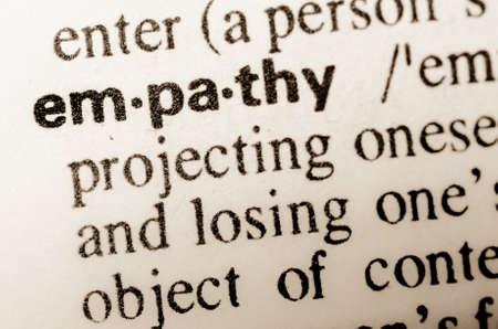 empatia: macro de la definici�n de la palabra en el diccionario de la empat�a