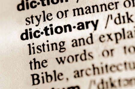 thesaurus: macro of word dictionary definition in dictionary