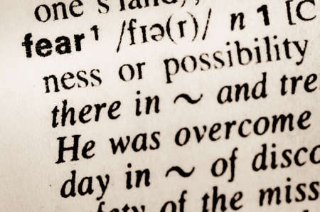 thesaurus: macro of word fear definition in dictionary