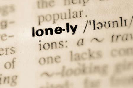 ungeliebt: Definition des Wortes lonely im W�rterbuch Lizenzfreie Bilder