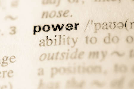 pronunciation: Definition of word power in dictionary Stock Photo