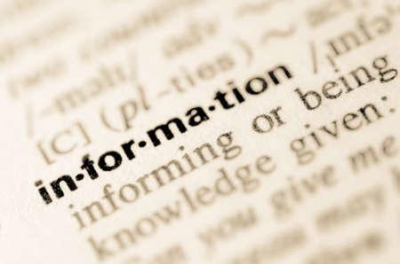 definicion: Definici�n de la informaci�n palabra en el diccionario