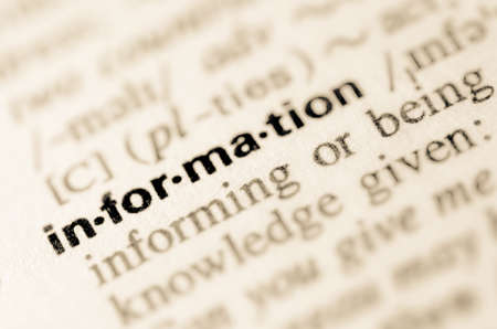 Definition of word information in dictionary