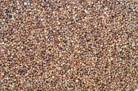groats: food background of bucweat groats Stock Photo
