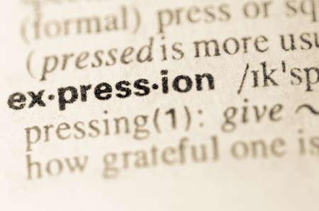 definicion: Definici�n de la expresi�n de la palabra en el diccionario Foto de archivo