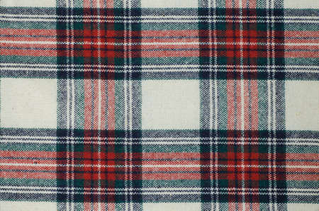 woolen: background of woolen checkered fabric texture Stock Photo