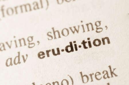 definicion: Definici�n de la palabra erudici�n en el diccionario
