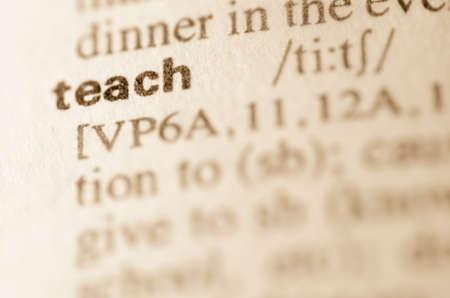 definición: Definición de la palabra enseñar en el diccionario
