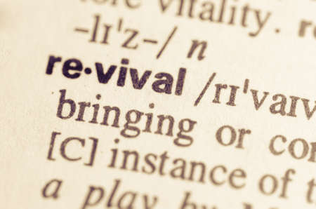 semantic: Definition of word revival in dictionary Stock Photo