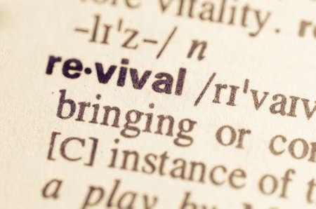 Definition of word revival in dictionary Archivio Fotografico