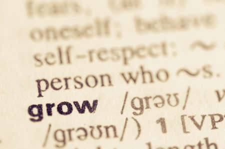 lexical: Definition of word grow  in dictionary