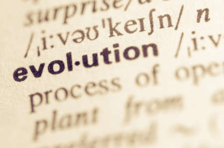 Definition of word evolution in dictionary
