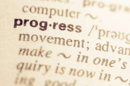 pronunciation: Definition of word progress in dictionary