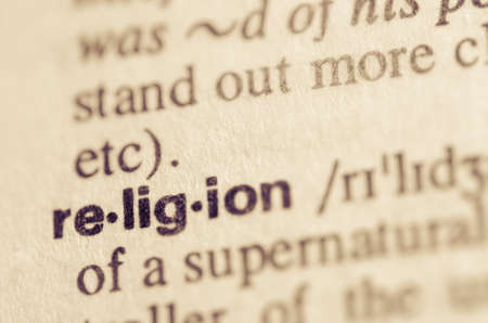 Definition of word religion in dictionary Banco de Imagens