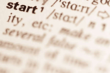 lexical: Definition of word start in dictionary