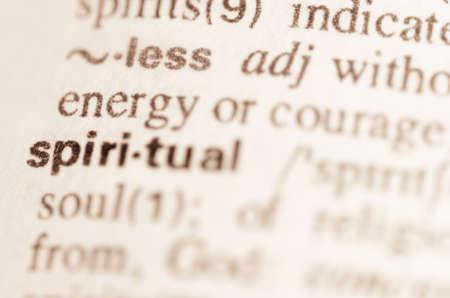 definicion: Definici�n de la palabra espiritual en el diccionario Foto de archivo