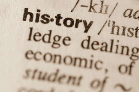 lexical: Definition of word history  in dictionary