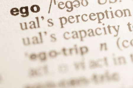 definicion: Definici�n de la palabra ego en el diccionario Foto de archivo