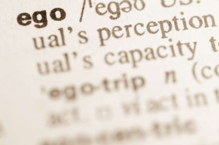 lexical: Definition of word ego in dictionary Stock Photo