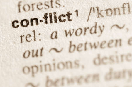 Definition of word conflict in dictionary