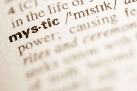 lexical: Definition of word mystic in dictionary Stock Photo