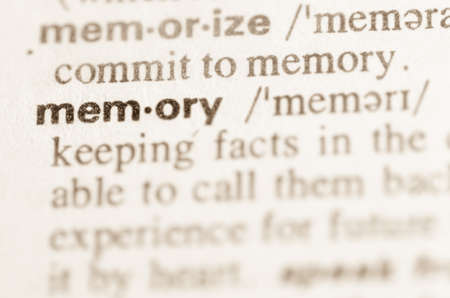 lexical: Definition of word memory  in dictionary
