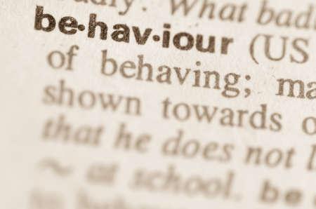 definicion: Definici�n de comportamiento palabra en el diccionario