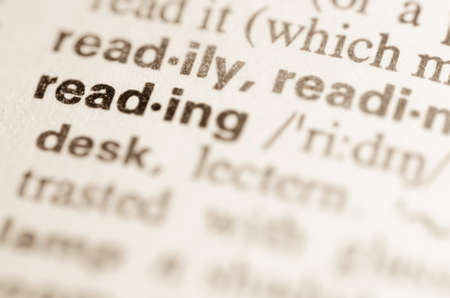 lexical: Definition of word reading  in dictionary