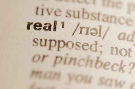 definicion: Definici�n de palabra real en el diccionario