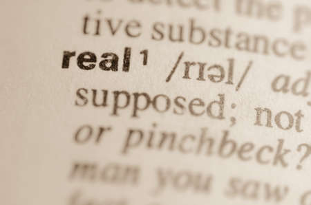 factual: Definition of word real in dictionary