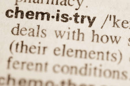 Definition of word chemistry  in dictionary