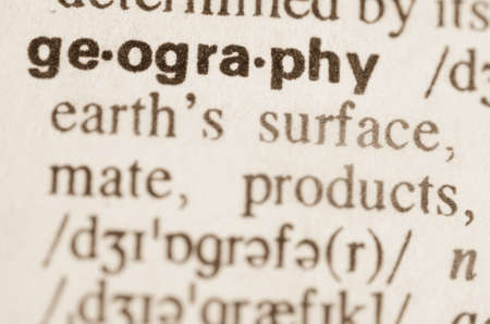 dictionary: Definition of word geography in dictionary