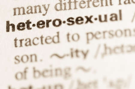 sexual orientation: Definition of word heterosexual in dictionary Stock Photo