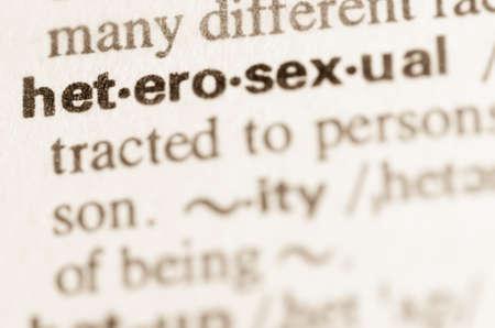 heterosexuality: Definition of word heterosexual in dictionary Stock Photo
