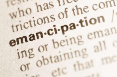 Definitie van het woord emancipatie in woordenboek