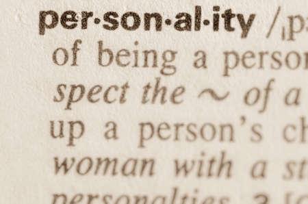 personality: Definici�n de la palabra en el diccionario de la personalidad