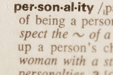 Definition of word personality in dictionary Banco de Imagens