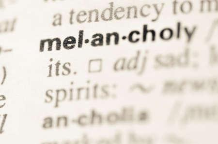 m�lancolie: D�finition du mot m�lancolie dans le dictionnaire