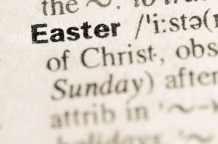 lexical: Definition of word Easter in dictionary Stock Photo