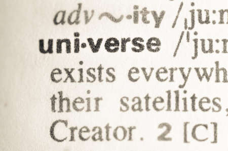 macrocosm: Definition of word universe in dictionary