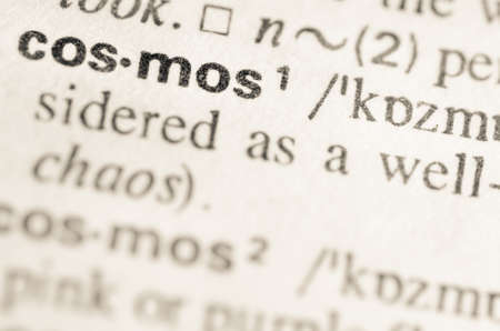lexical: Definition of word cosmos in dictionary Stock Photo
