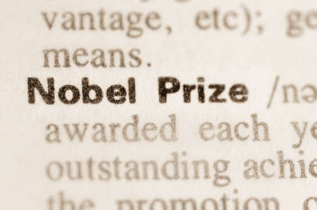 Definition of word Nobel Prize in dictionary Stok Fotoğraf - 38203970