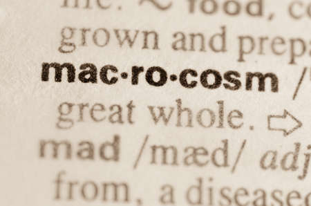 definicion: Definici�n de palabra macrocosmos en el diccionario Foto de archivo
