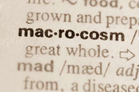 macrocosm: Definition of word macrocosm in dictionary