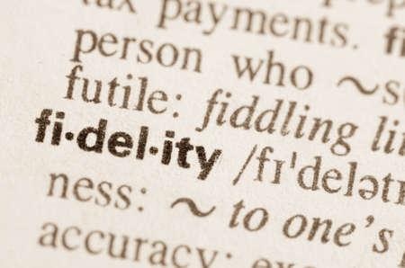 definicion: Definici�n de fidelidad palabra en el diccionario