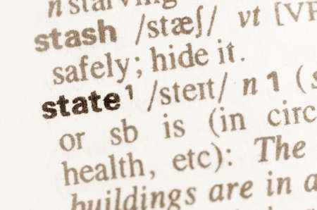 polity: Definition of word state in dictionary