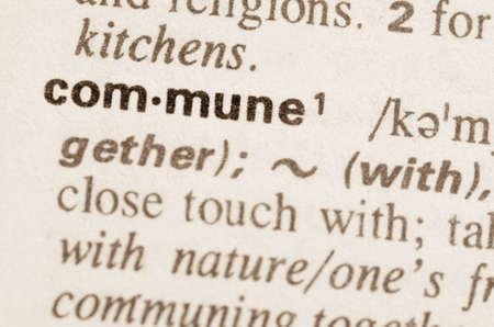 Definitie van woord gemeente in woordenboek