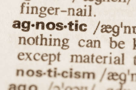 skeptic: Definition of word sgnostic in dictionary Stock Photo